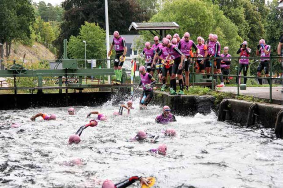 Spännande swimrun-tävling